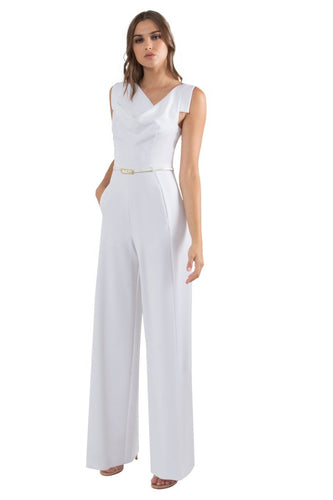 Black Halo Jackie O Jumpsuit  - White