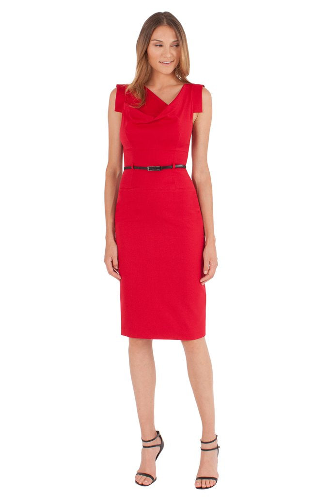 Black Halo Classic Jackie O Dress - Red