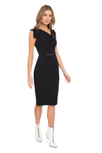 Load image into Gallery viewer, Black Halo Classic Jackie O Dress - Black