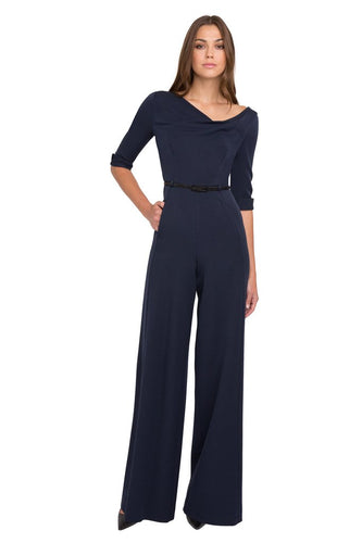Black Halo 3/4 Sleeve Jackie O Jumpsuit  - Eclipse