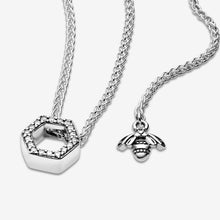 Load image into Gallery viewer, Sparkling Honeycomb Hexagon Collier Necklace