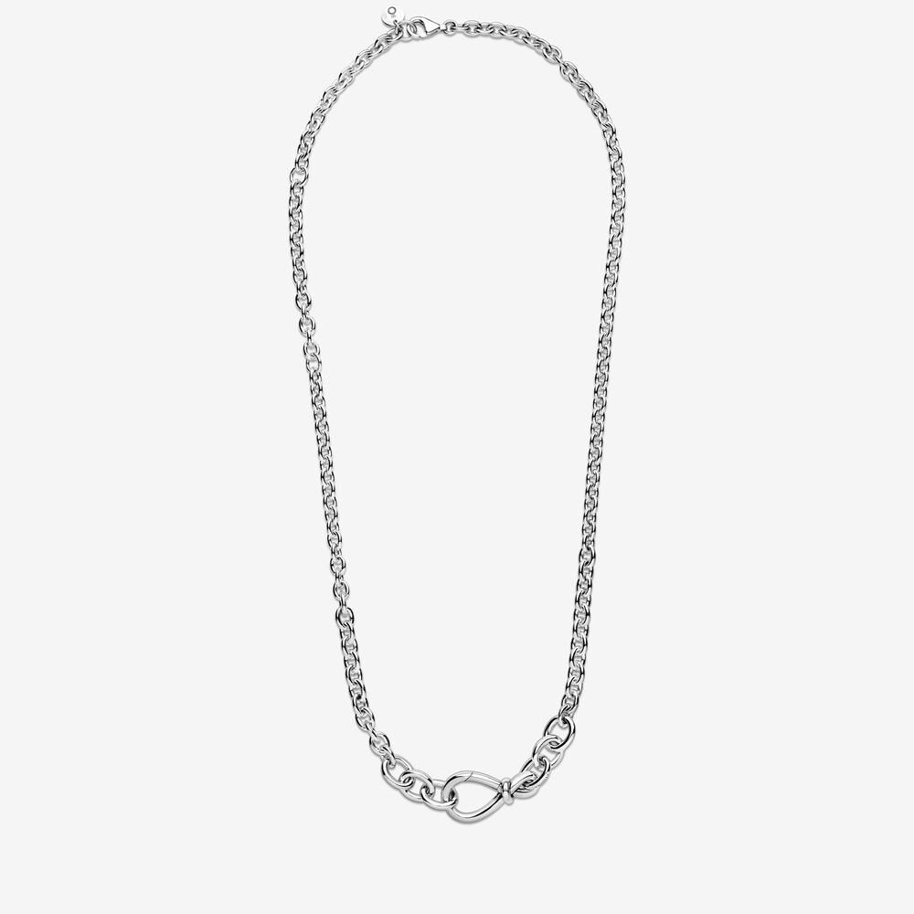 Chunky Infinity Knot Chain Necklace