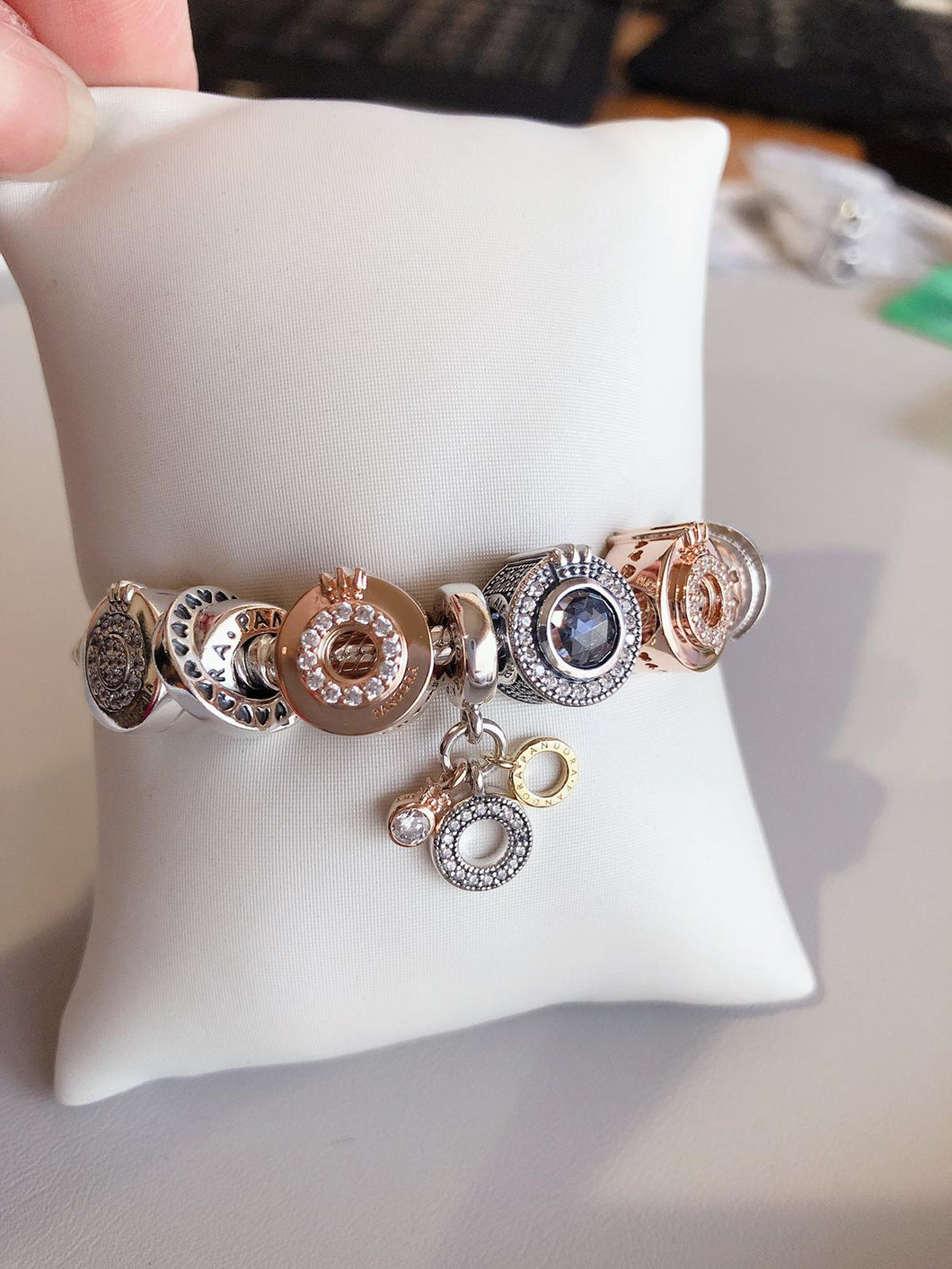 Customized Pandora Bracelet with 6 charms