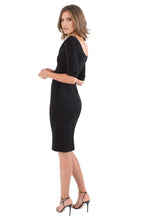 Load image into Gallery viewer, Black Halo 3/4 Sleeve Jackie O Dress - Black