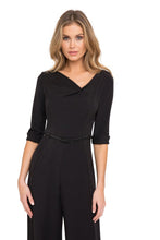 Load image into Gallery viewer, Black Halo 3/4 Sleeve Jackie O Jumpsuit  - Black