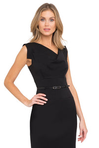 Black Halo Classic Jackie O Dress - Black