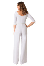 Load image into Gallery viewer, Black Halo 3/4 Sleeve Jackie O Jumpsuit  - White