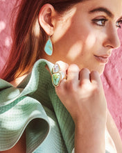 Load image into Gallery viewer, Mckenna Vintage Gold Small Drop Earrings in White Abalone