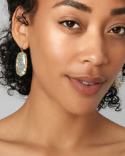 Load image into Gallery viewer, Faceted Elle Gold Drop Earrings in Lilac Abalone