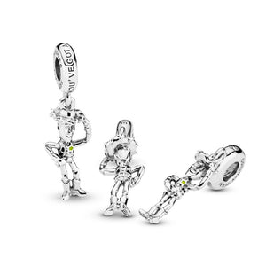 PANDORA Disney Pixar, Toy Story, Woody Dangle Charm