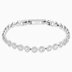 ANGELIC BRACELET, WHITE, RHODIUM PLATED