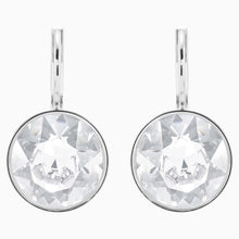 Load image into Gallery viewer, BELLA EARRINGS, WHITE, RHODIUM PLATED