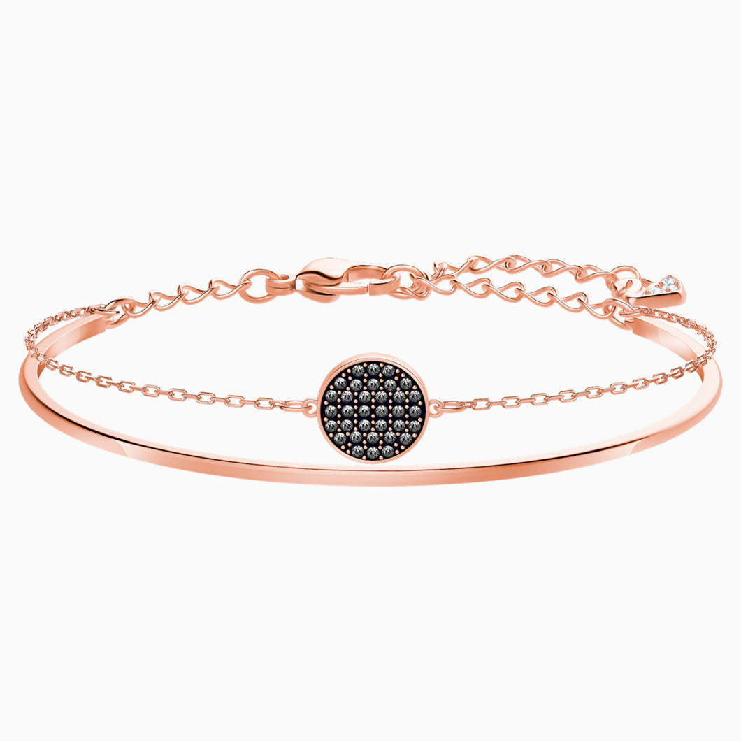 GINGER BANGLE, GRAY, ROSE-GOLD TONE PLATED