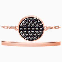 Load image into Gallery viewer, GINGER BANGLE, GRAY, ROSE-GOLD TONE PLATED