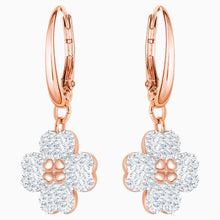 Load image into Gallery viewer, LATISHA PIERCED EARRINGS, WHITE, ROSE-GOLD TONE PLATED