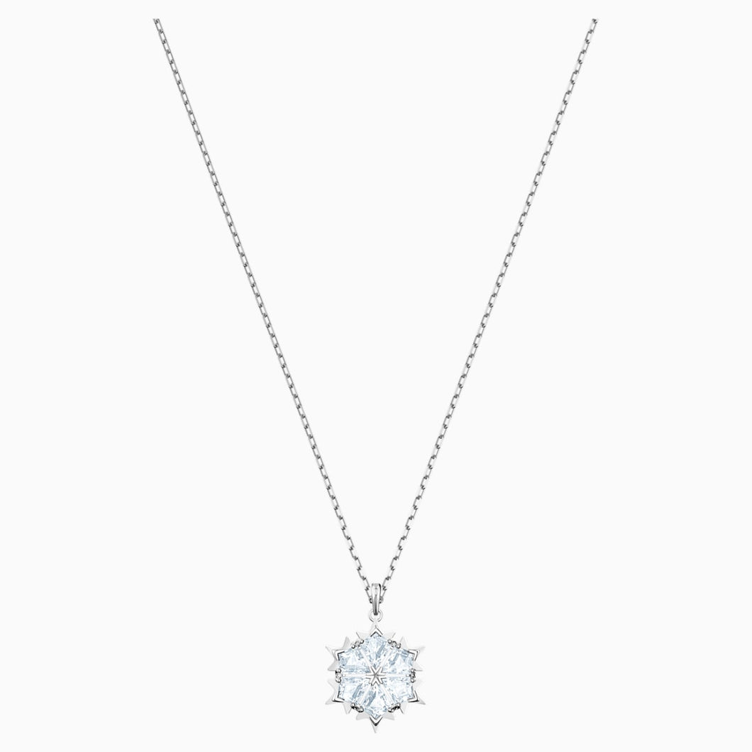 MAGIC PENDANT, WHITE, RHODIUM PLATED