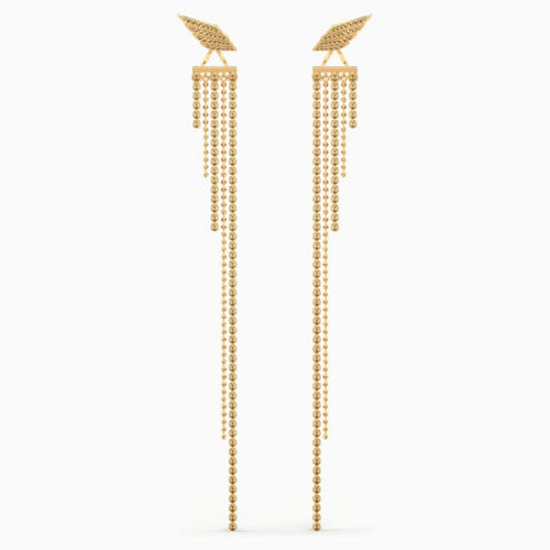 Fit Wonder Woman Pierced Earrings, Gold tone, Gold-tone plated