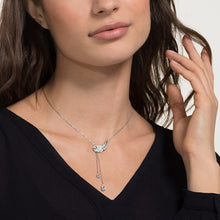 Load image into Gallery viewer, NICE Y NECKLACE, WHITE, RHODIUM PLATED