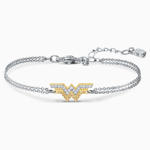 FIT WONDER WOMAN BRACELET, GOLD TONE, MIXED METAL FINISH