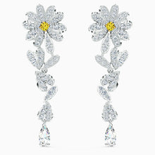 Load image into Gallery viewer, ETERNAL FLOWER PIERCED EARRINGS, YELLOW, MIXED METAL FINISH