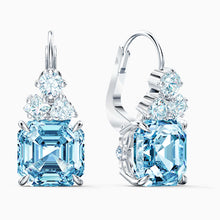 Load image into Gallery viewer, SPARKLING SET, AQUA, RHODIUM PLATED
