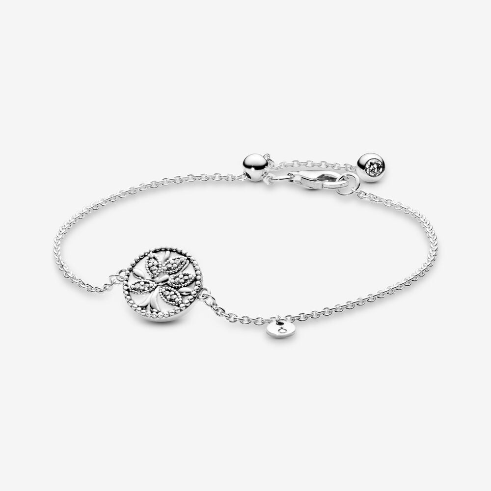 Sparkling Family Tree Slider Bracelet