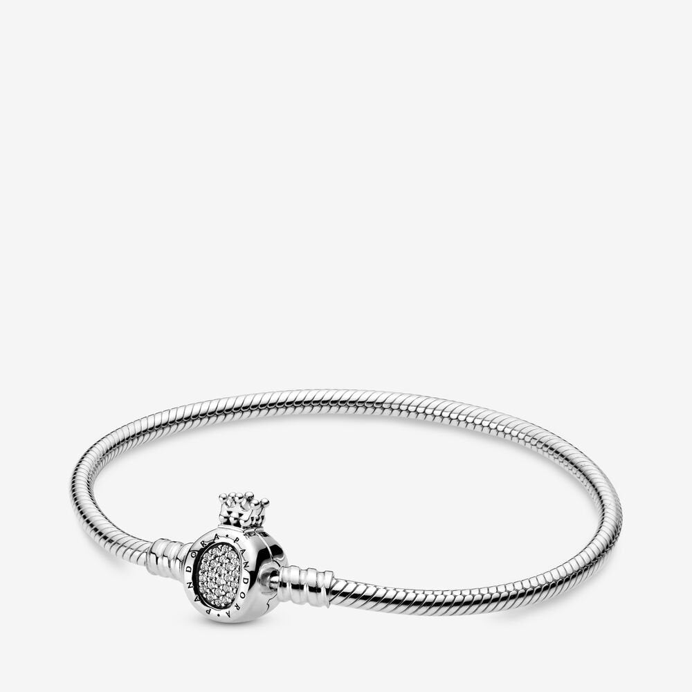 Pandora Moments Crown O Clasp Snake Chain Bracelet