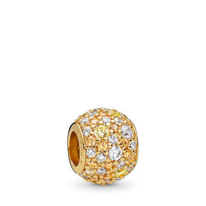 Pandora Golden Mix Pavé Charm, PANDORA Shine & Multi-Colored CZ