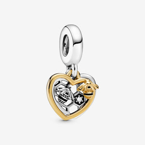 Hearts & Bees Dangle Charm