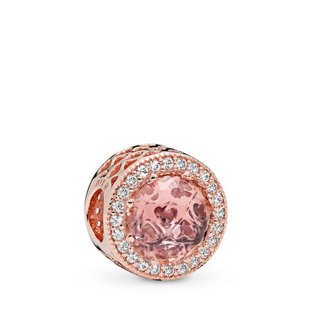 Pandora Radiant Hearts Charm, PANDORA Rose, Blush Pink Crystal & Clear CZ