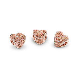 Pandora Filigree & Beaded Heart Charm