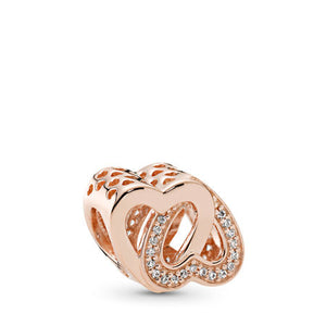Pandora Entwined Love Charm, PANDORA Rose & Clear CZ