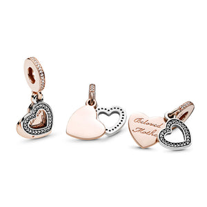 Pandora Beloved Mother Charm, PANDORA Rose & Clear CZ