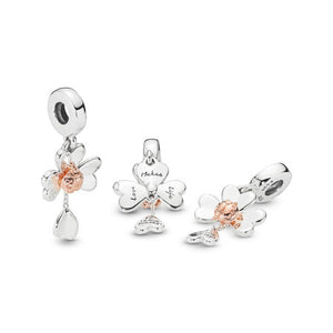 Pandora Clover & Ladybird Dangle Charm