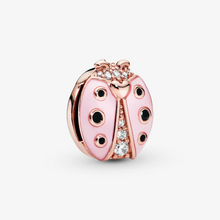 Load image into Gallery viewer, Pink Ladybird Clip Charm