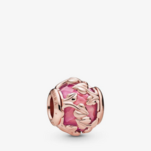 Load image into Gallery viewer, Pink Decorative Leaves Charm