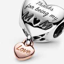 Load image into Gallery viewer, Love You Mum Heart Charm