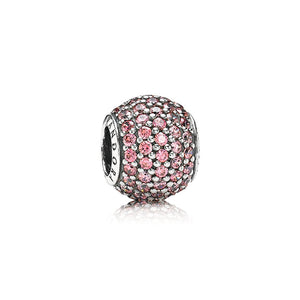 Pandora Pavé Lights Charm, Fancy Pink CZ