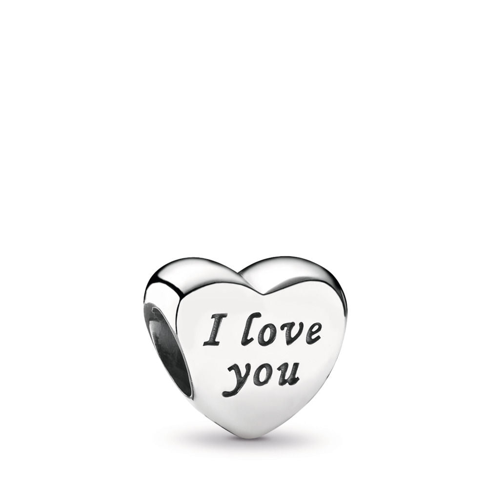 Pandora Words Of Love Engraved Heart Charm