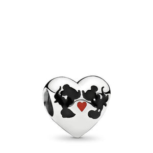 Pandora Disney Minnie Mouse & Mickey Mouse Kiss Charm