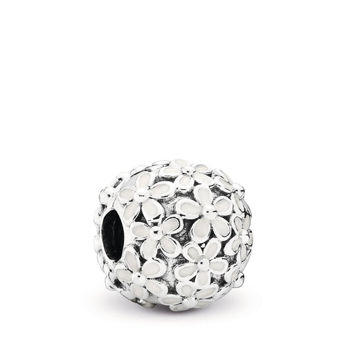 PANDORA Darling Daisy Meadow Clip, White Enamel