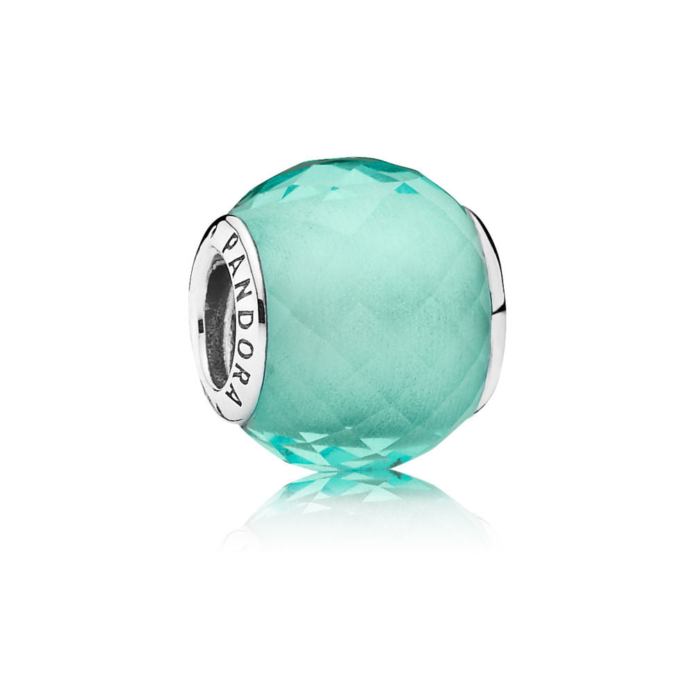 Pandora Petite Facets Charm, Synthetic Green Quartz