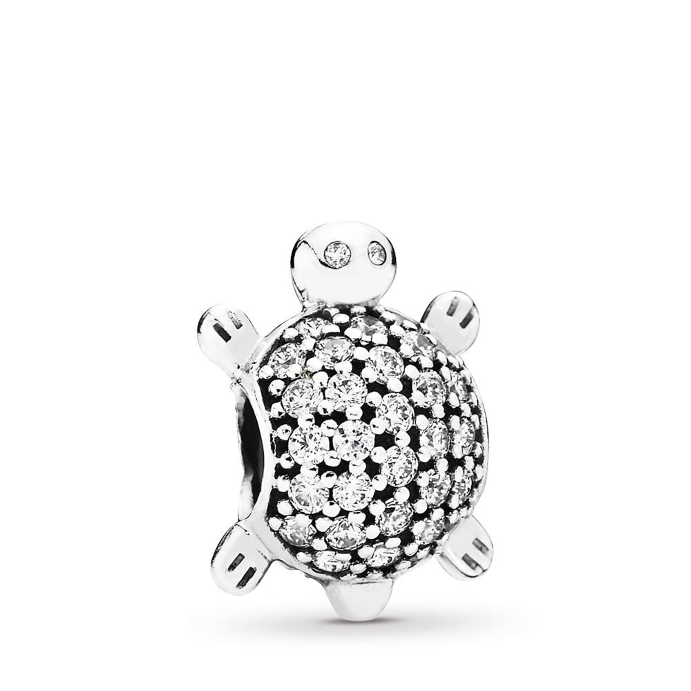 Pandora Sea Turtle Charm, Clear CZ