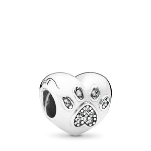 Pandora I Love My Pet Charm, Clear CZ