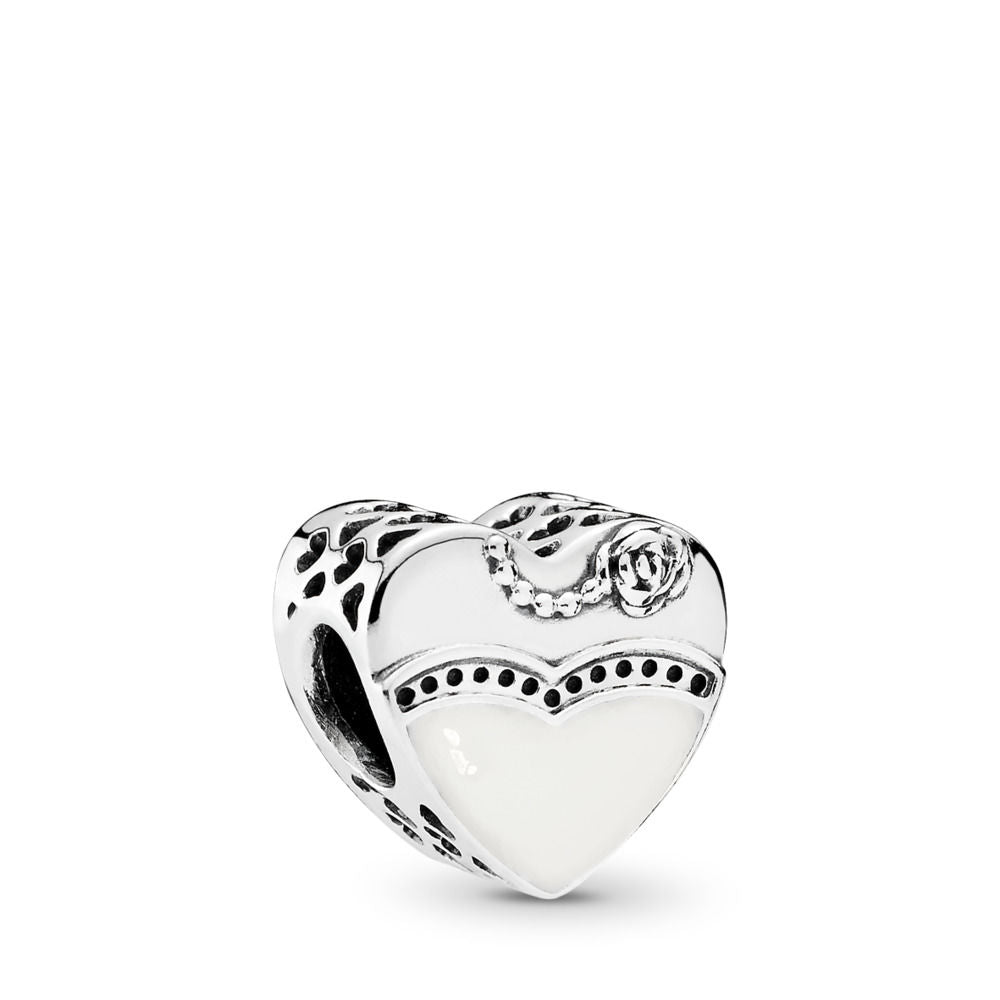 Pandora Our Special Day Charm, Black & White Enamel