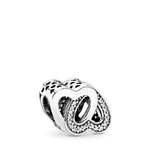 Pandora Entwined Love Charm, Clear CZ