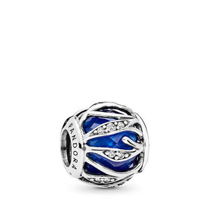 Pandora Nature's Radiance Charm, Royal Blue Crystal & Clear CZ