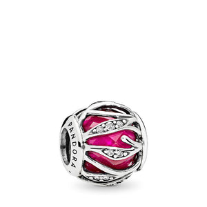 PANDORA Nature's Radiance Charm, Synthetic Ruby & Clear CZ