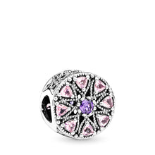 Load image into Gallery viewer, Pandora Shimmering Medallion Charm, Multi-Colored CZ