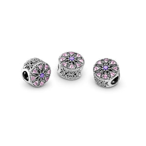 Pandora Shimmering Medallion Charm, Multi-Colored CZ